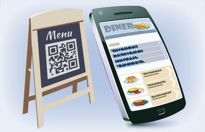 QR code powered restaurant menu for smart phones